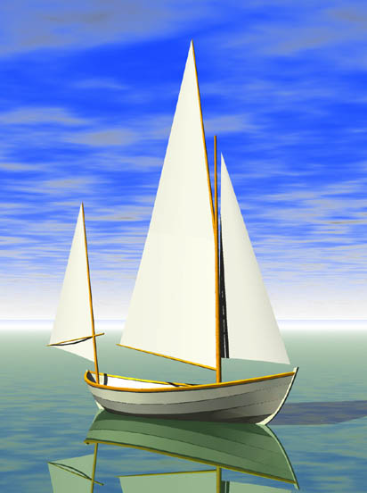 Rendering (in progress) of the Caledonia Yawl made from study plans ...
